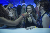 This image released by Netflix shows, from left, Phoebe Robinson, Gillian Jacobs and Vanessa Bayer in a scene from