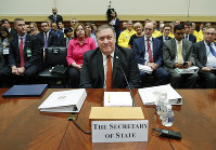 Secretary of State Mike Pompeo waits to testify before the House Foreign Affairs Committee hearing on Capitol Hill in Washington, on May 23, 2018. (AP Photo/Pablo Martinez Monsivais)