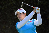 In this April 20, 2018, file photo, Moriya Jutanugarn, of Thailand, watches her shot from the seventh tee during the second round of the LPGA Tour's HUGEL-JTBC LA Open golf tournament at Wilshire Country Club in Los Angeles. (AP Photo/Mark J. Terrill)