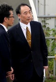保釈された籠池泰典被告=大阪市都島区で2018年5月25日午後5時22分、平川義之撮影