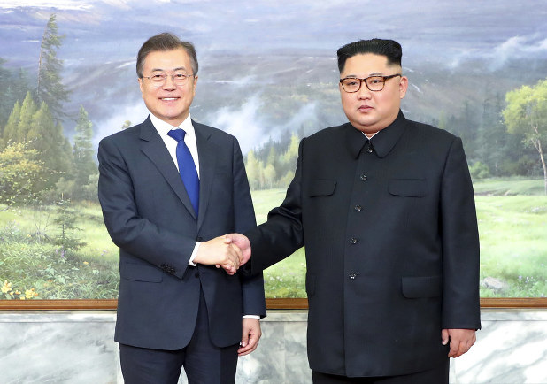 North Korea S Kim Meets With South S Moon For 2nd Time The Mainichi