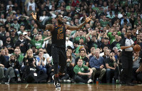 Cleveland Cavaliers forward LeBron James gestures during the second half in Game 7 of the NBA basketball Eastern Conference finals against the Boston Celtics, on May 27, 2018, in Boston. (AP Photo/Elise Amendola)