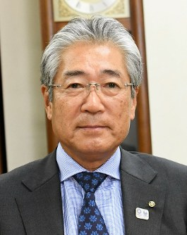 Tsunekazu Takeda, president of the Japanese Olympic Committee, is pictured at the committee's headquarters in Tokyo's Shibuya Ward on May 23, 2018. (Mainichi)