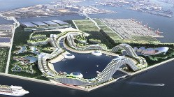 夢洲(大阪市此花区)でのIR整備のイメージ=関西経済同友会提供、2015年1月作成