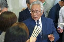 日大の大塚吉兵衛学長=2018年6月1日、手塚耕一郎撮影