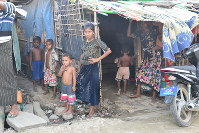 Rohingya residents have been living in a camp for internally displaced people in the western state of Rakhine in Myanmar since clashes with Buddhists in 2012. (Mainichi)