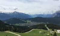 Seefeld in Austria, which is surrounded by the Alps, is seen on June 3, 2018. (Mainichi)