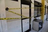 爆弾を誤爆させて家族3人が死亡したアントン・フェルディアントノ容疑者の自宅アパート=インドネシア・ジャワ島東部スラバヤ郊外で2018年6月2日、武内彩撮影