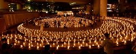 Visitors enjoy seeing candles arranged for