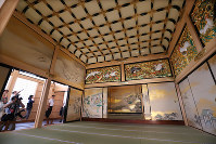 The rebuilt Jorakuden, the shogun's rooms in Nagoya Castle's Honmaru Palace, is unveiled to press, in Nagoya's Naka Ward, on June 4, 2018. (Mainichi)