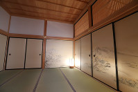 The Kuroki Shoin, or inner reception hall, is seen in Nagoya Castle's rebuilt Honmaru Palace in Nagoya's Naka Ward, on June 4, 2018. The hall is thought to be shogun Tokugawa Ieyasu's residence after his move from Kiyosu Castle in Kiyosu, Aichi Prefecture. (Mainichi)