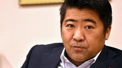 木原誠二氏=須藤孝撮影