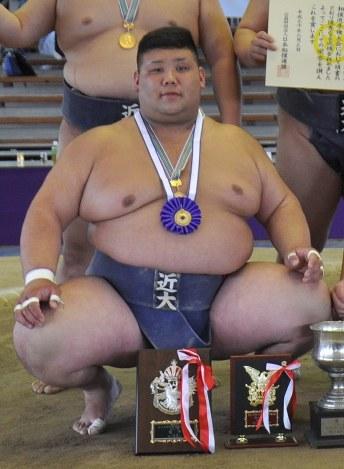 学生相撲:近大4年の元林 西日本...