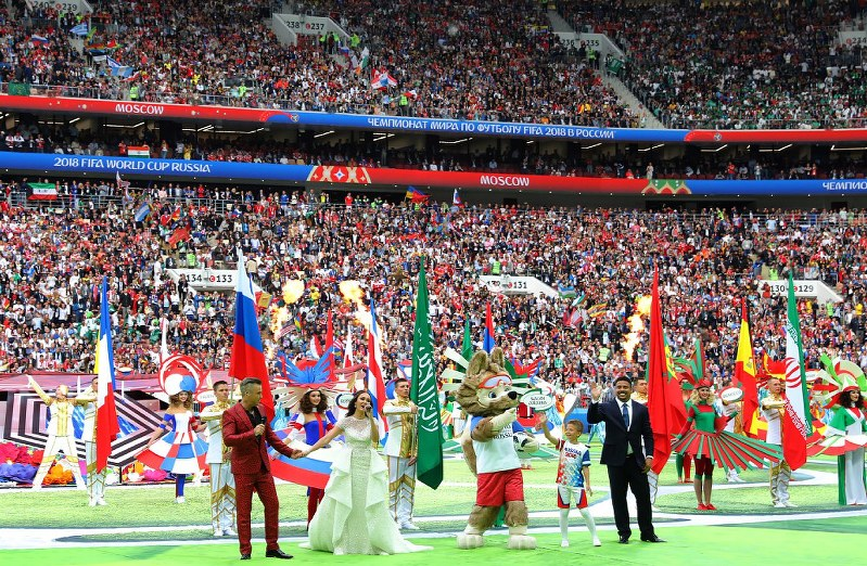 ロシアW杯:芸術開幕式、地球魅...