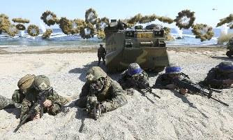 米韓合同軍事演習:中止方針に「...