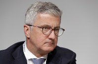 In this May 3, 2018 file photo, Rupert Stadler, CEO of Audi AG, attends the shareholders' meeting of the Volkswagen stock company in Berlin, Germany. (AP Photo/Michael Sohn)