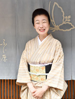 宮川町芸妓組合組合長のふく葉さん=京都市東山区で、川平愛撮影