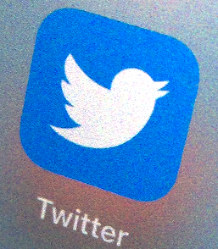 A Twitter app icon is seen on an iPad in Tokyo.