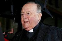 Archbishop Philip Wilson arrives at Newcastle Local Court, in Newcastle, Australia, on June 19, 2018. (Darren Pateman/AAP via AP)