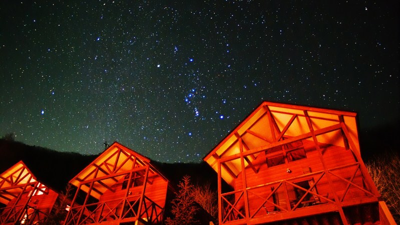 群馬県上野村の夜空=筆者提供