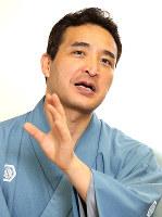 講談師の玉田玉秀斎さん=大阪市北区で、梅田麻衣子撮影
