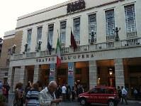 ローマ歌劇場の正面