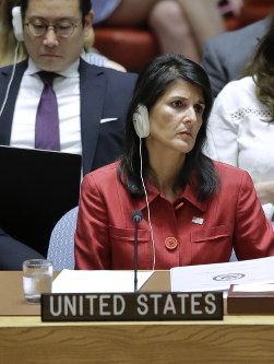 U. S. Ambassador to the United Nations Nikki Haley (AP)