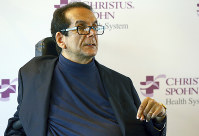In this March 31, 2015 file photo, Charles Krauthammer talks about getting into politics during a news conference in Corpus Christi, Texas. (Gabe Hernandez/Corpus Christi Caller-Times via AP, File)