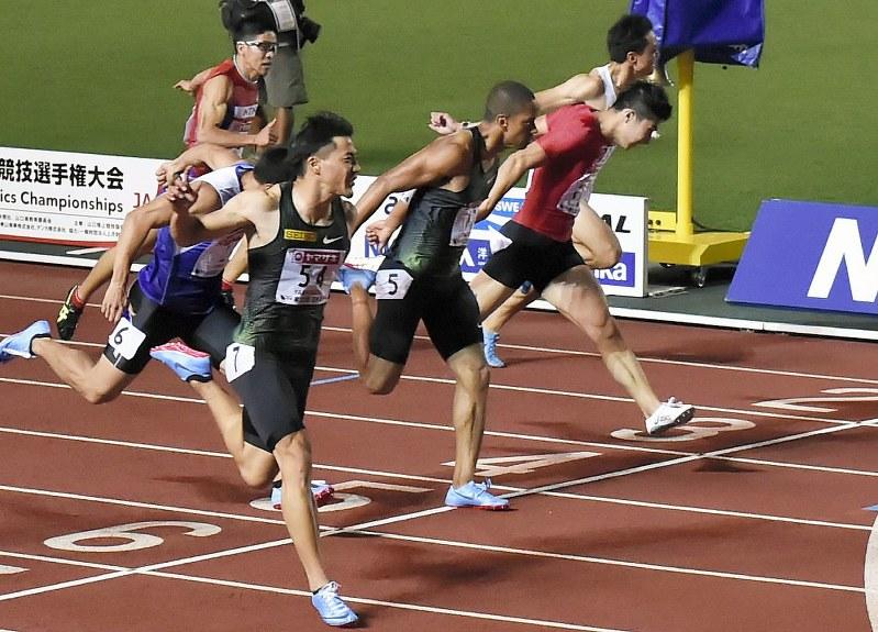 陸上:山県10秒05で優勝 日本選...