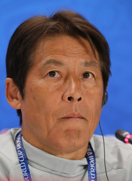Japan national soccer team head coach Akira Nishino. (Mainichi)