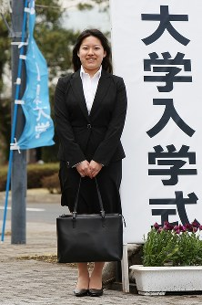 城西国際大学の入学式にご出席される高円宮家絢子さま=千葉県東金市で2009年4月2日(代表撮影)