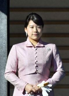 高円宮家の三女、絢子さま=皇居で2018年1月2日、藤井達也撮影