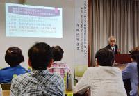 高齢者向けに開かれた防災講座=高松市で、岩崎邦宏撮影