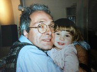 Lejla Damon, right, stands with her adoptive father Dan Damon in Budapest, Hungary, in the fall of 1994. (Photo courtesy of Lejla Damon)