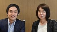 武井房子さん(右)と駒形一洋さん