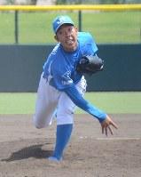 四国予選で安定感のある投球を見せたJR四国・田内