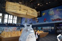 A Studio Ghibli exhibition opens in China for the first time at the Shanghai World Financial Center on July 1, 2018. (Mainichi)