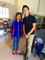 Princess Ayako's fiance Kei Moriya visits a facility in Cambodia supported by Moriya's mother Kimie, on Jan. 26, 2016. (Photo courtesy of nonprofit organization Kokkyo naki Kodomotachi)