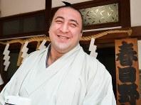 6月下旬に名古屋入りした新大関の栃ノ心。「優勝を目指す」と語る表情は明るい