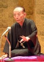 Rakugo storyteller Katsura Utamaru performs his favorite piece