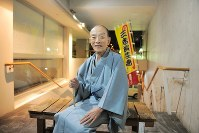 Rakugo storyteller Katsura Utamaru is seen in the city of Yokohama on Oct. 31, 2011. (Mainichi)