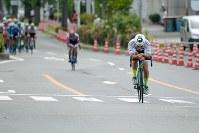 残り5周、山本大喜(KINAN Cycling Team)が単独で先行=JBCF提供