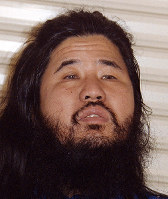 AUM Shinrikyo cult founder Shoko Asahara, whose real name is Chizuo Matsumoto, is seen in Fujinomiya, Shizuoka Prefecture, on Oct. 22, 1990. (Mainichi)