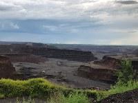 鉄鋼製品の輸入制限が生み出した活況を受ける米鉄鋼大手USスチールの鉄鉱石の採掘場=米中西部ミネソタ州バージニア近郊で2018年6月28日、清水憲司撮影
