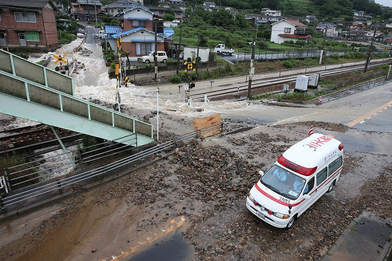 in photos  heavy rain causes extensive damage in wide areas