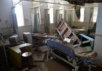 住民らが避難し、一時孤立していたまび記念病院の病室=岡山県倉敷市真備町地区で2018年7月9日午後0時7分、望月亮一撮影