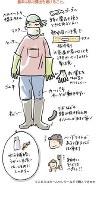 けがや熱中症などを防ぐ服装で掃除しよう=震災がつなぐ全国ネットワーク作成「水害にあったときに」より