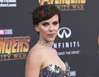 In this April 23, 2018 file photo, Scarlett Johansson arrives at the world premiere of