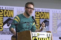 In this July 21, 2017 photo, Chris Hardwick moderates the