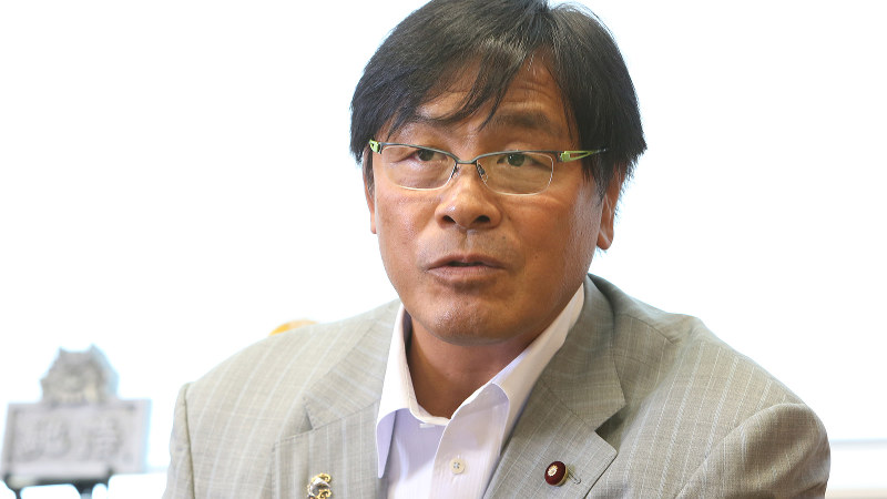 馳浩氏=太田康男撮影